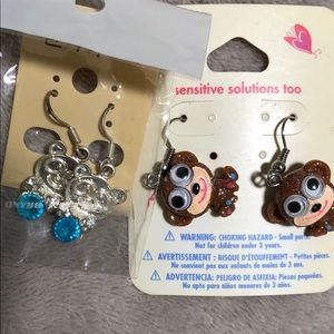 new CUTE Monkey and Panda Earrings